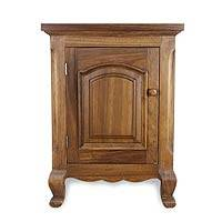 Parota wood nightstand, 'Country Estate' - Handcrafted Wood Nightstand End Table