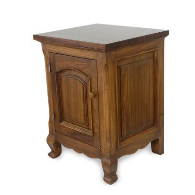 Handcrafted Wood Nightstand End Table