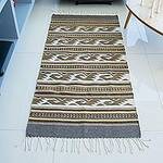 Artisan Crafted Zapotec Wool Rug with Natural Dyes (2.6x5), 'My People's Movement'