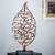 Steel sculpture, 'Golden Leaf' - Handmade Steel Silhouette Golden Leaf Sculpture thumbail
