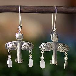 Sterling silver earrings, 'Mystical Vision' - Artisan Crafted Earrings Taxco Sterling Silver Jewelry