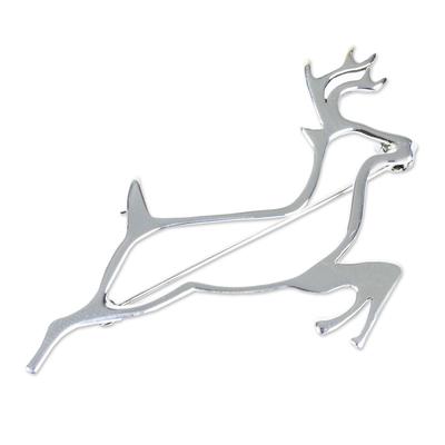 Sterling Silver Brooch Pin Taxco Artisan Jewelry