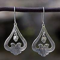 Sterling silver dangle earrings, 'Sweet Renewal'