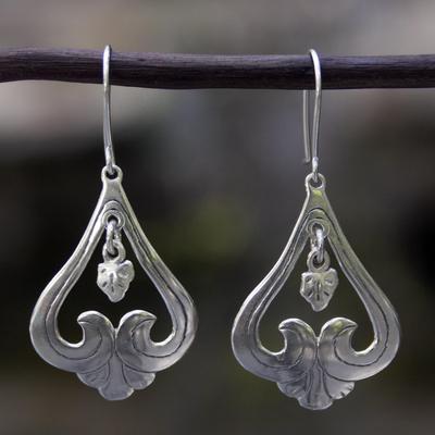Sterling silver dangle earrings, 'Sweet Renewal' - Vintage Silver Earrings Crafted by Hand