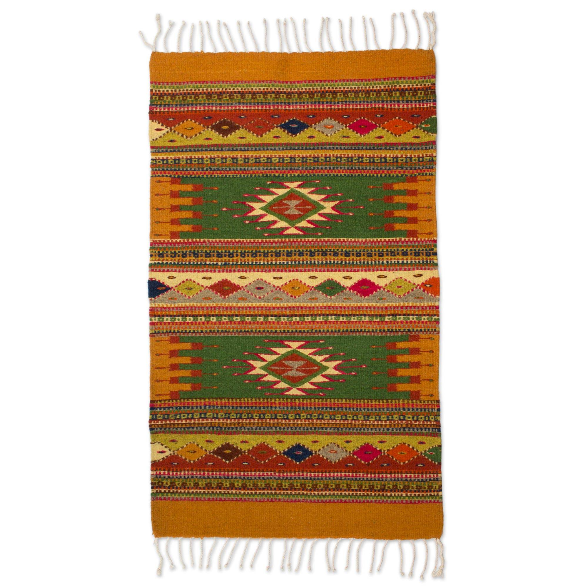 Authentic Zapotec Wool Accent Rug (2x3
