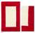 Wool rug, 'Crimson Window' (2.5x4) - Red Border Modern White Wool Accent Rug (image 2) thumbail