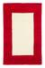 Wool rug, 'Crimson Window' (2.5x4) - Red Border Modern White Wool Accent Rug thumbail