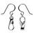 Sterling silver dangle earrings, 'Modern Mobius' - Handmade Modern Taxco Silver Earrings (image 2b) thumbail