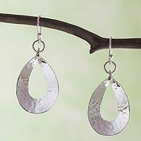 Sterling silver dangle earrings, 'Taxco Modern' - Artisan Crafted Sterling Silver Earrings
