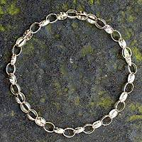 Sterling silver chain necklace, 'Shine'