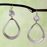Sterling silver dangle earrings, 'Abstract Rain' - Taxco Sterling Earrings