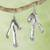 Sterling silver dangle earrings, 'Rivulets' - Taxco Sterling Earrings thumbail