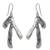 Sterling silver dangle earrings, 'Rivulets' - Taxco Sterling Earrings (image 2a) thumbail