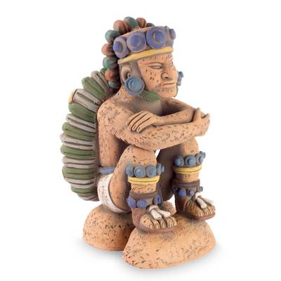 Collectible Aztec Ceramic Sculpture Museum Replica