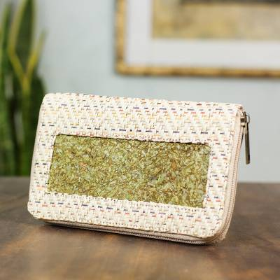 Natural fibers wallet, 'Mexican Fanfare' - Hand Crafted Natural Fibers Wallet