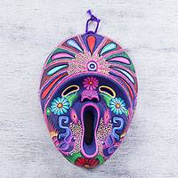 Ceramic mask, 'Spiritual Song' - Original Ceramic Mask Painted by Hand