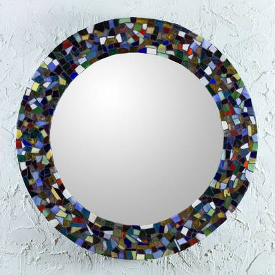 Round Stained Glass Wall Mirror Colors Of Mexico