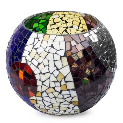 Handcrafted Stained Glass Tealight Candleholder (XL)