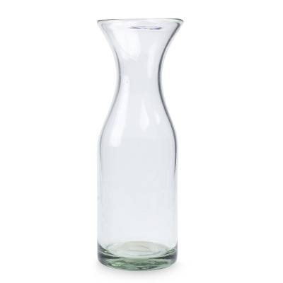 Blown glass carafe, 'Clarity' - Mexican Hand Blown Glass Carafe