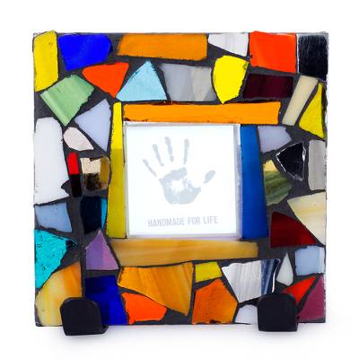 Handcrafted Stained Glass Photo Frame (2x2)