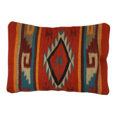 Wool cushion cover, 'Monte Alban'  - Wool cushion cover
