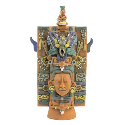 Ceramic sculpture, 'Maya Incense Holder' - Collectible Maya Ceramic Sculpture Museum Replica