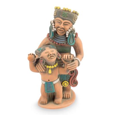 Aztec Style Original Ceramic Sculpture