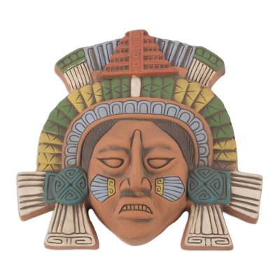 Polychrome Ceramic Mask from Ancient Mexico