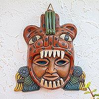Ceramic mask, 'Jaguar Warrior'