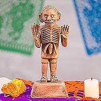 Ceramic sculpture, 'Aztec God of Death'