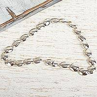 Sterling silver link necklace, 'Moonlight Glow' - Taxco Silver Link Necklace