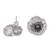 Sterling silver button earrings, 'Amazing Poppies' - Fair Trade Sterling Silver Hook Earrings from Mexico (image 2c) thumbail