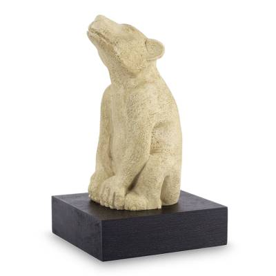 Aztec Dog Sculpture with Stand