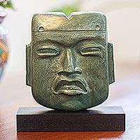 Sculpture, 'Olmec Mortuary Mask'