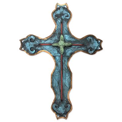 Steel wall art, 'My Cross' - Handcrafted Cross Sculpture