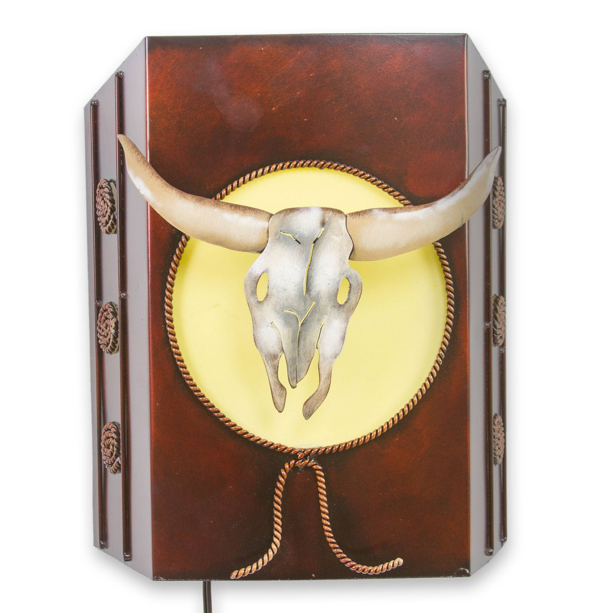 UNICEF Market   Old West Rustic Cattle Theme Wall Lamp from Mexico ...