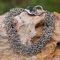 Sterling silver chain bracelet, 'Florence' - Fair Trade Hand Crafted Sterling Silver Chainmail Bracelet