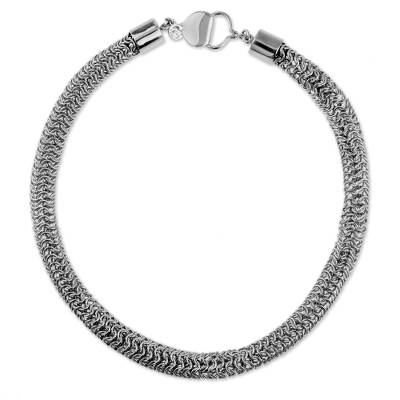 Fair Trade Hand Crafted Sterling Silver Chainmail Necklace