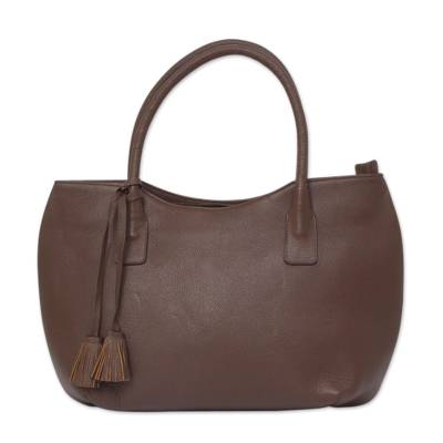 Novica Leather flap shoulder bag, Diva