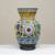 Ceramic vase, 'Nahua Doves' - Colorful Handcrafted Ceramic Vase from Mexico (image 2) thumbail