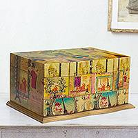 Decoupage jewelry box, 'France in Mexico'