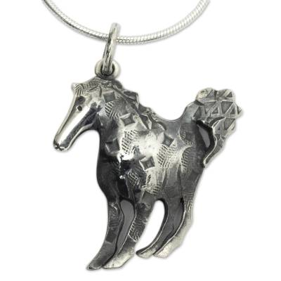 Artisan Crafted Horse Theme Sterling Silver Necklace