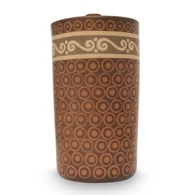 Hand Crafted Ceramic Decorative Jar from Mexico