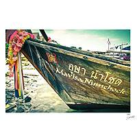 'Ko Phi Phi' - Vintage Style Color Photograph on Foam Core