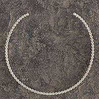 Sterling silver choker, 'Moonglow' - Fair Trade Taxco Sterling Silver Choker from Mexico