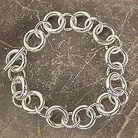 Featured review for Sterling silver link bracelet, Artful Minimalist