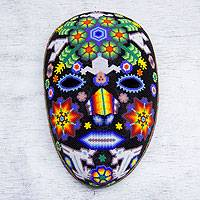 Beadwork mask, 'Marra Rrurabe' - Huichol Papier Mache Peyote Mask