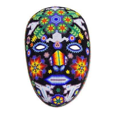 Beadwork mask, 'Marra Rrurabe' - Huichol Papier Mache Peyote Mask