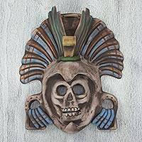Ceramic mask, 'Eagle Warrior Spirit' - Mexican Aztec Eagle Warrior Ceramic Mask