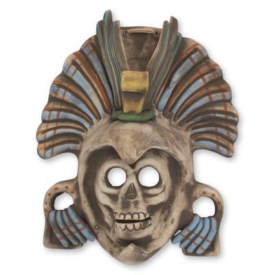 Mexican Aztec Eagle Warrior Ceramic Mask
